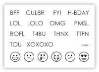 impressit™ TXT Speak & Symbols     NOW JUST 85p - was £4!
