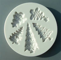 Alphabet Moulds Sugarcraft Mould - Christmas Trees set of 5