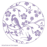 impressit™ Designer Rolling Pin - Lace with Birds