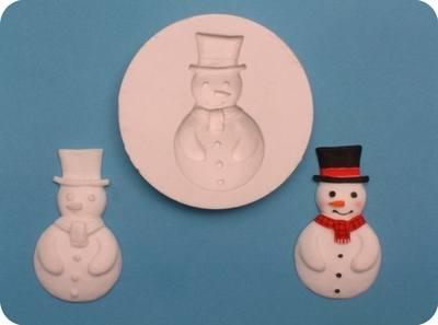 Cupcake Mould - Christmas Snowman