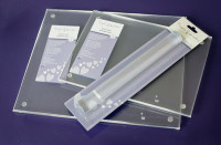 Purple Cupcakes Clear Acrylic Rolling Pin 23cm (9