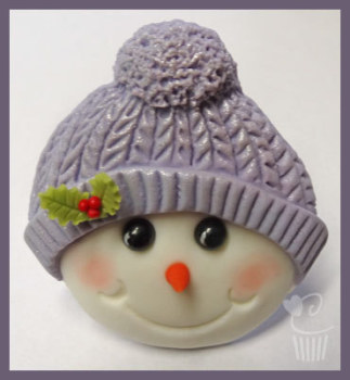 Mould - Christmas Snowman with bobble hat