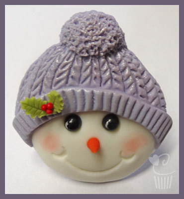 Cupcake Mould - Christmas Snowman with bobble hat