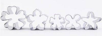 Set of 5 small flower cutters