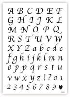 Alphabet and Numbers: CALLIGRAPHY