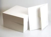 "White Cake Box -  9"" square (pack of 4)"