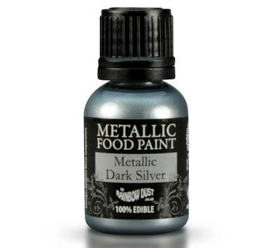 Metallic Food Paint - Dark Silver