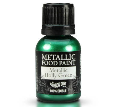 Metallic Food Paint - Holly Green