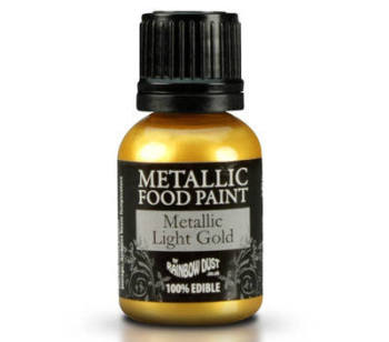 Metallic Food Paint - Light Gold
