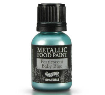 Metallic Food Paint - Pearlescent Baby Blue
