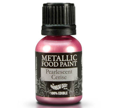 Metallic Food Paint - Pearlescent Cerise