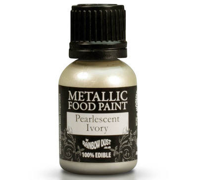 Metallic Food Paint - Pearlescent Ivory