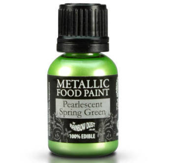 Metallic Food Paint - Pearlescent Spring Green