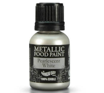 Metallic Food Paint - Pearlescent White
