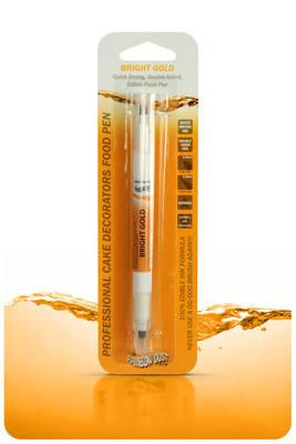 Edible Ink Pen - Bright Gold