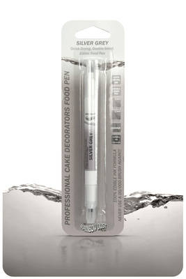 Edible Ink Pen - Silver Grey