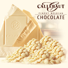 Callebaut Finest Belgian White Chocolate Buttons 1kg Bag