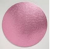 "Cake Drum - 12"" Round LIGHT PINK"