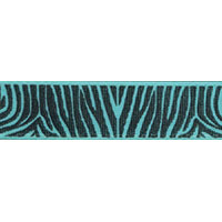 Ribbon: Zebra Aqua 15mm x 5 metres