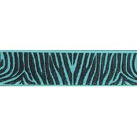 Ribbon: Zebra Aqua 15mm x 5 metres