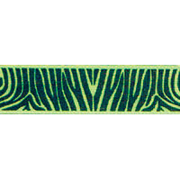Ribbon: Zebra Lime Green 15mm x 5 metres