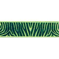 Ribbon: Zebra Lime Green 15mm x 5 metres