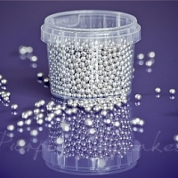 Purple Cupcakes - Metallic SILVER 4mm