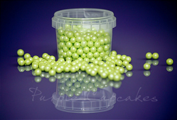 Large Sugar Pearls 7mm - Pearl Light Green
