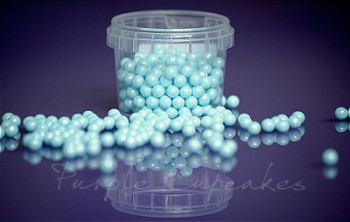 Large Sugar Pearls 7mm - Pearl Blue