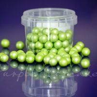 Large Sugar Pearls 10mm - Pearl Lime Green