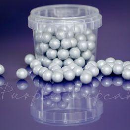 Large Sugar Pearls 10mm - Pearl Silver