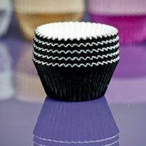 Cupcake Cases FOIL - Black