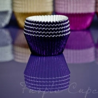 Cupcake Cases FOIL - Purple