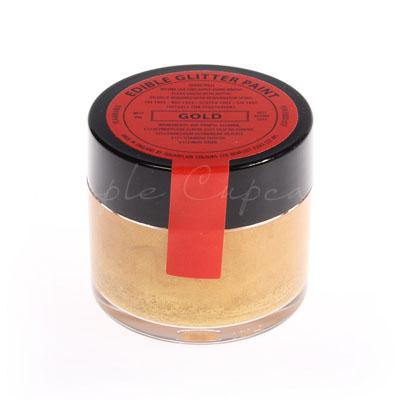 Sugarflair Edible Glitter Paint Gold 20g