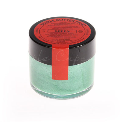 Sugarflair Edible Glitter Paint Green 20g