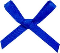 100 royal blue bows