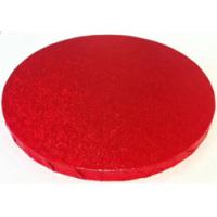 "Cake Drum - 10"" Round Red"
