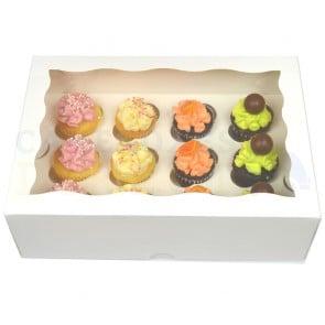 Cupcake Box Mini - 12 Cupcakes MINI (x 4 boxes)