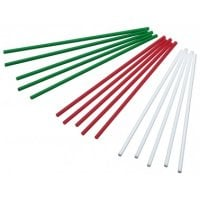 White/Green/Red Cake Pop Sticks