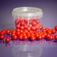 Large Sugar Pearls 10mm -  Red