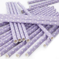 Paper Straws - Polka Dot Lilac
