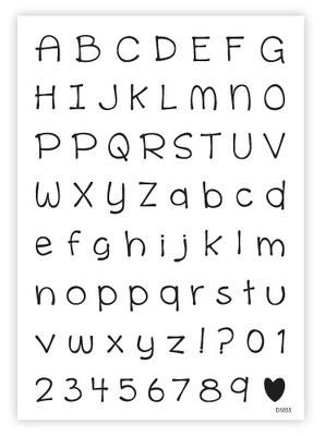 Alphabet & Numbers: SCHOOLWORK