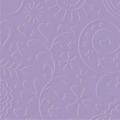 Designer Embossing Folder - Retro Flowers