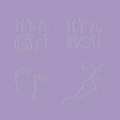 Designer Embossing Folder - Boy/Girl