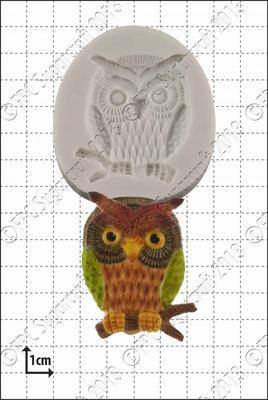 Cupcake Mould - Wise Owl