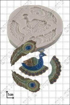 Cupcake Mould - Filigree Peacock