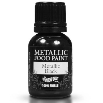 Metallic Food Paint - Black