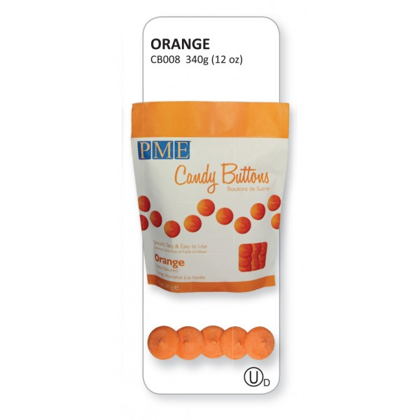 Orange Candy Buttons