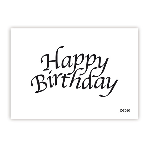 impressit™ Happy Birthday CALLIGRAPHY Mini