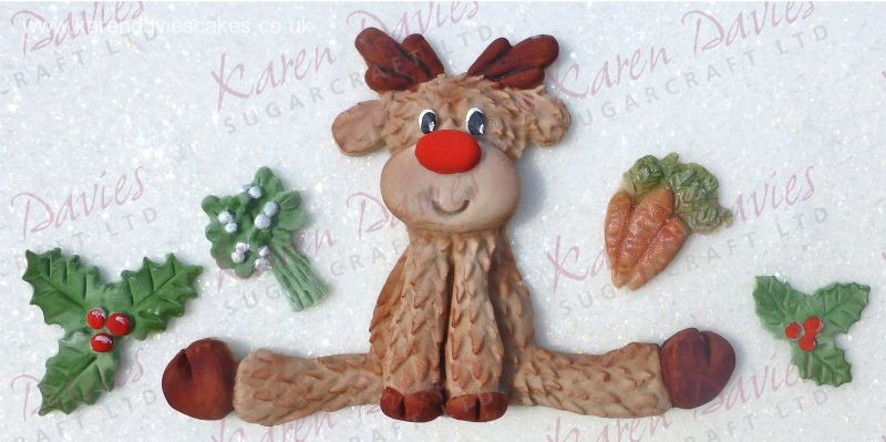 Karen Davies Sitting Reindeer Mould